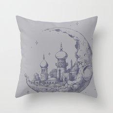 An Arabian Crescent Throw Pillow