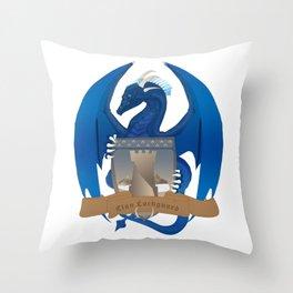 Clan Lochguard Blue Crest Throw Pillow