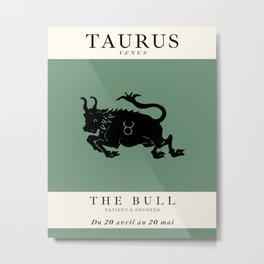 Minimalist Taurus Metal Print