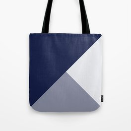 Trinity Color Block Navy Blue 121c44 Tote Bag