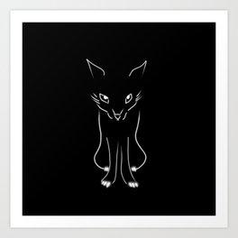 Minimalist Fox Illustration Art Print
