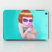 ice cream iPad Cases featuring Ice cream by Maripili