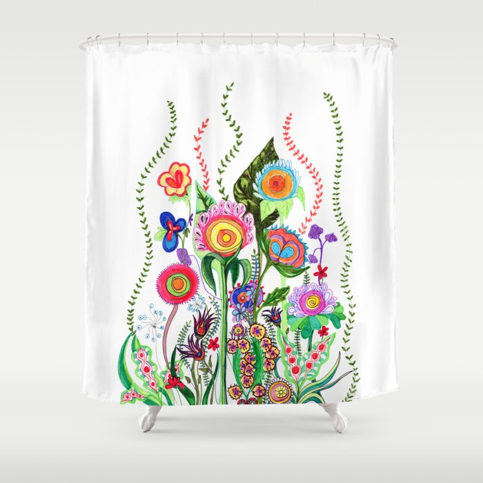 FLOWERS IN MEXICO Shower Curtain By Heavenseven