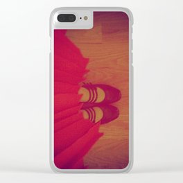 The Girl in the Red Dress Clear iPhone Case