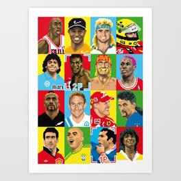 select your athlete Art Print