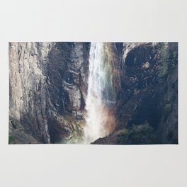 Bridalveil Falls, Yosemite California Rug
