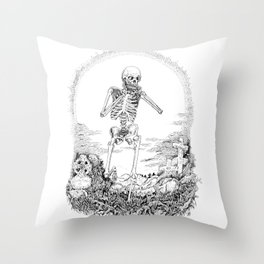 Death and Harmonica Throw Pillow