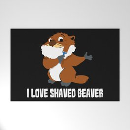 I Love Shaved Beaver | Sarcasm Welcome Mat