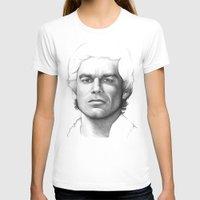 dexter T-shirts featuring Dexter Morgan  by Olechka