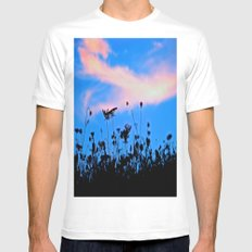 Dancing Under a Blue Sky MEDIUM White Mens Fitted Tee