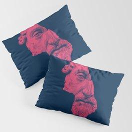 MARCUS AURELIUS ANTONINUS AUGUSTUS / prussian blue / vivid red Pillow Sham