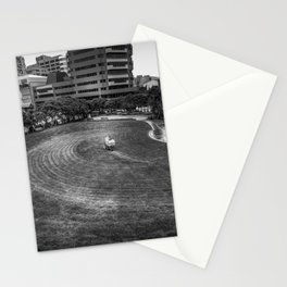 Mowing The Lawns In A Circle Stationery Cards