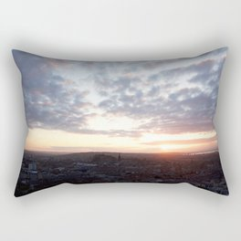 Salisbury Crags overlooking Edinburgh at sunset 4 Rectangular Pillow