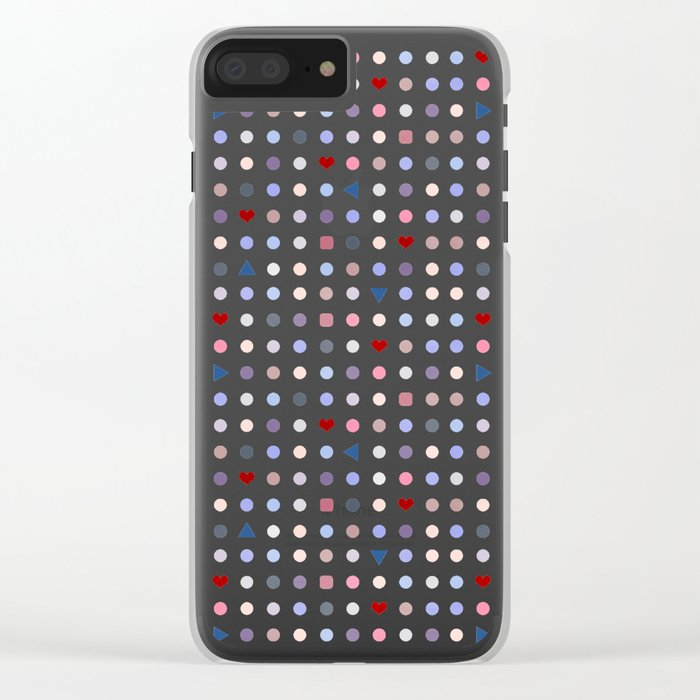Arcade Pattern Clear iPhone Case