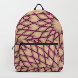 Purple Fishnet Mandala Pattern Backpack