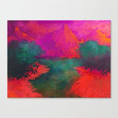 Neon Landscape Canvas Print