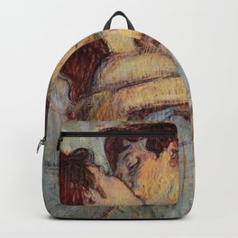 Henri De Toulouse Lautrec In Bed The Kiss Painting Backpack