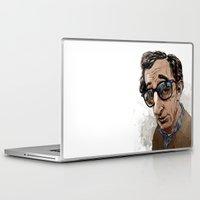 woody allen Laptop & iPad Skins featuring Woody Allen by Mitt Roshin