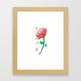 Warm Watercolour Fiordland Flower Framed Art Print