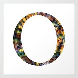 "Initial letter ""O"" Art Print"