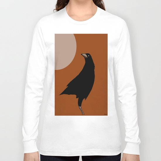The crow of the setting sun Long Sleeve T-shirt