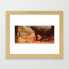 Deep Desert Framed Art Print