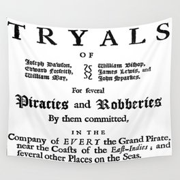 Historical Pirate Trials Wall Tapestry