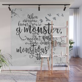 Six of Crows - Monster - White Wall Mural