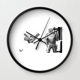 Space Bounty Hunter no background Wall Clock