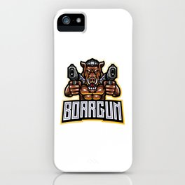 Razorback Gunners Esport Mascot Logo iPhone Case