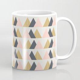 Gold + Black + Pink Mountains Coffee Mug
