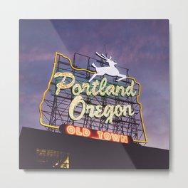 Portland Stag Metal Print