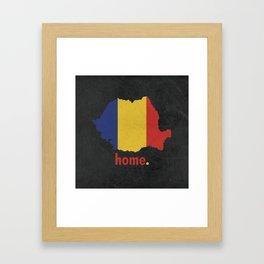 Romania Proud Framed Art Print