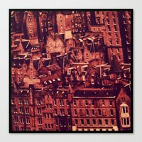 edinburgh Canvas Prints featuring Edinburgh by Molly Smiles