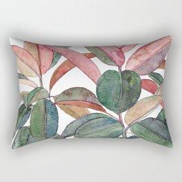 Rubber Plant Rectangular Pillow
