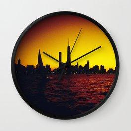Chicago Sunset Wall Clock