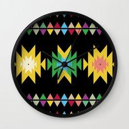 Folk black Wall Clock