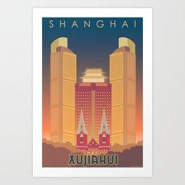 Shanghai (Xujiahui) Travel Poster  Art Print