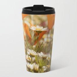 Orange Poppies and Yellow Daisies Travel Mug