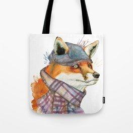 Fox in Hat Tote Bag
