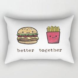 Burger and Fries Rectangular Pillow