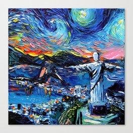 van Gogh Never Saw Christ The Redeemer Canvas Print