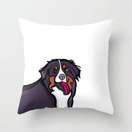 Bernese Mountain Dog Fever Throw Pillow
