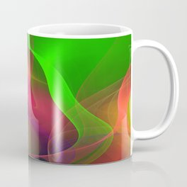 Artistic colourful flame abstract Coffee Mug