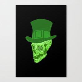 Skull Leprechaun Canvas Print