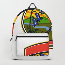Trail Runner Bluebells Oval Icon Backpack