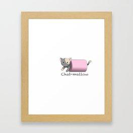 Chat-mallow Framed Art Print