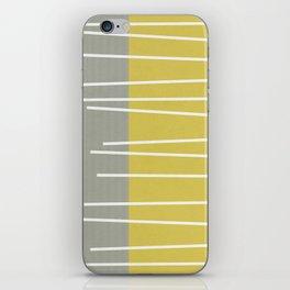 MId century modern textured stripes iPhone Skin