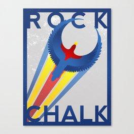ROCK CHALK JAYHAWK Canvas Print