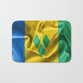Saint Vincent and the Grenadines Flag Bath Mat